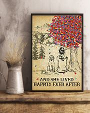 Labradoodle She Lived Happily 11x17 Poster lifestyle-poster-3