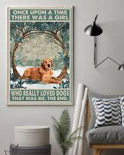 Dark Golden Retriever Once Upon A Time 1 11x17 Poster lifestyle-poster-1