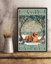 Dark Golden Retriever Once Upon A Time 1 11x17 Poster lifestyle-poster-3