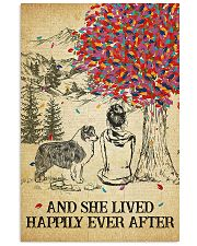 Australian Shepherd She Lived Happily 11x17 Poster front