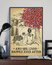 Australian Shepherd She Lived Happily 11x17 Poster lifestyle-poster-2