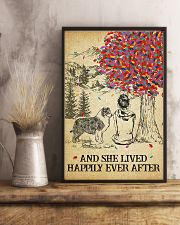 Australian Shepherd She Lived Happily 11x17 Poster lifestyle-poster-3