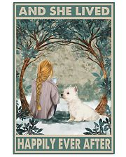 Westie Happily Ever After Blonde 11x17 Poster front