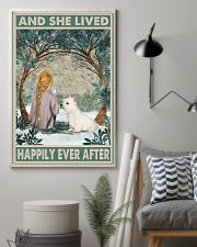 Westie Happily Ever After Blonde 11x17 Poster lifestyle-poster-1