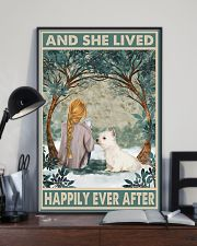 Westie Happily Ever After Blonde 11x17 Poster lifestyle-poster-2