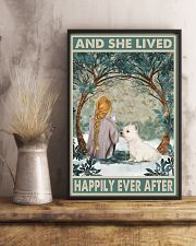 Westie Happily Ever After Blonde 11x17 Poster lifestyle-poster-3