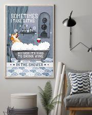 Golden Retriever I Take Baths 11x17 Poster lifestyle-poster-1