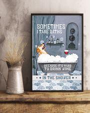 Golden Retriever I Take Baths 11x17 Poster lifestyle-poster-3