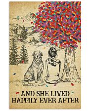 Golden Retriever She Lived Happily 11x17 Poster front