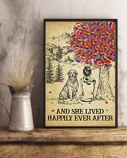 Golden Retriever She Lived Happily 11x17 Poster lifestyle-poster-3