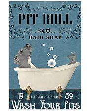 pit bull bath soapb 11x17 Poster front