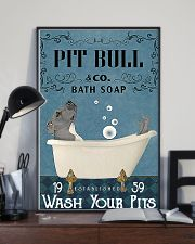 pit bull bath soapb 11x17 Poster lifestyle-poster-2