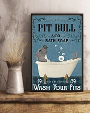 pit bull bath soapb 11x17 Poster lifestyle-poster-3