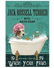 Dog Jack Russell Terrier Bath Soap 11x17 Poster front