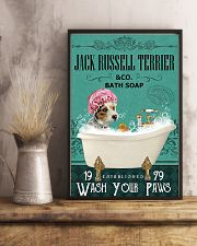 Dog Jack Russell Terrier Bath Soap 11x17 Poster lifestyle-poster-3
