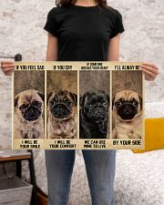 pug alway be by your side 24x16 Poster poster-landscape-24x16-lifestyle-20