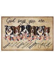 border collie - god says 24x16 Poster front