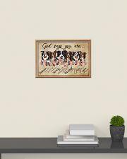 border collie - god says 24x16 Poster poster-landscape-24x16-lifestyle-09