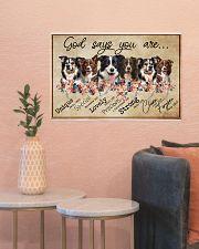 border collie - god says 24x16 Poster poster-landscape-24x16-lifestyle-22