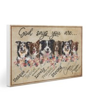 border collie - god says Gallery Wrapped Canvas Prints tile