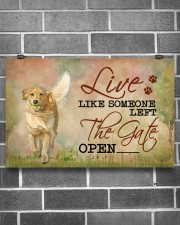 golden retriever live like 17x11 Poster aos-poster-landscape-17x11-lifestyle-18
