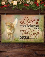 golden retriever live like 17x11 Poster aos-poster-landscape-17x11-lifestyle-27
