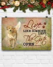 golden retriever live like 17x11 Poster aos-poster-landscape-17x11-lifestyle-28