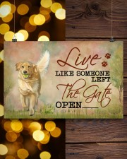golden retriever live like 17x11 Poster aos-poster-landscape-17x11-lifestyle-29