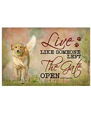 golden retriever live like 17x11 Poster front