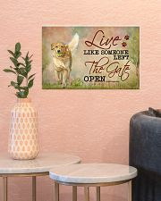 golden retriever live like 17x11 Poster poster-landscape-17x11-lifestyle-21