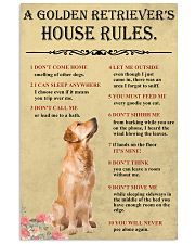 Golden Retriever House Rules 11x17 Poster front