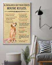 Golden Retriever House Rules 11x17 Poster lifestyle-poster-1