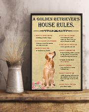 Golden Retriever House Rules 11x17 Poster lifestyle-poster-3