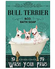 bull terrier bath soap 11x17 Poster front