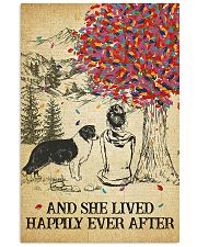 Border Collie She Lived Happily 11x17 Poster front