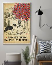 Border Collie She Lived Happily 11x17 Poster lifestyle-poster-1