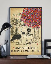 Border Collie She Lived Happily 11x17 Poster lifestyle-poster-2