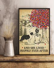 Border Collie She Lived Happily 11x17 Poster lifestyle-poster-3