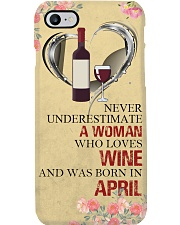 Wine A Woman April Phone Case i-phone-8-case