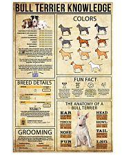 Bull Terrier Knowledge 11x17 Poster front