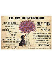 Dachshund To My Bestfriend 17x11 Poster front