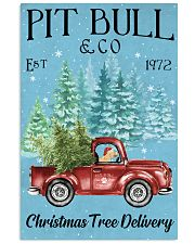 Pitbull Christmas Tree Delivery 11x17 Poster front