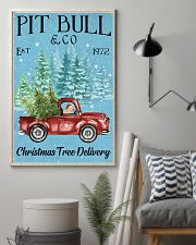 Pitbull Christmas Tree Delivery 11x17 Poster lifestyle-poster-1