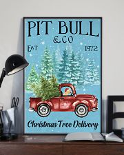 Pitbull Christmas Tree Delivery 11x17 Poster lifestyle-poster-2