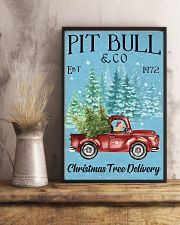 Pitbull Christmas Tree Delivery 11x17 Poster lifestyle-poster-3