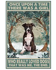 Brindle Staffordshire Terrier Once Upon A Time 11x17 Poster front