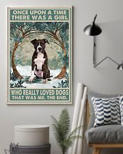 Brindle Staffordshire Terrier Once Upon A Time 11x17 Poster lifestyle-poster-1