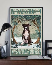 Brindle Staffordshire Terrier Once Upon A Time 11x17 Poster lifestyle-poster-2