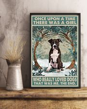 Brindle Staffordshire Terrier Once Upon A Time 11x17 Poster lifestyle-poster-3