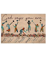 Volleyball - God Says You Are Horizontal Poster tile